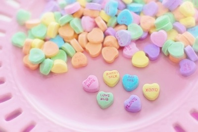 Valentine's hard candies